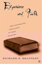 Cover of: Experience and Faith | Richard E. Brantley