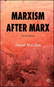 Cover of: Marxism After Marx | David McLellan