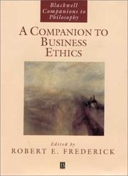Cover of: A Companion to Business Ethics by Robert E. Frederick