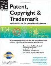Cover of: Patent, copyright & trademark | Richard Stim