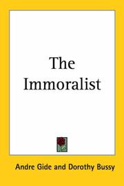 Cover of: The Immoralist | André Gide