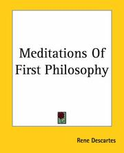 Cover of: Meditations of First Philosophy | René Descartes