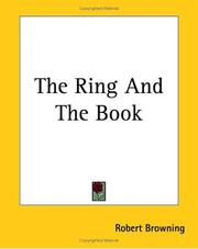 Cover of: The Ring and the Book | Robert Browning