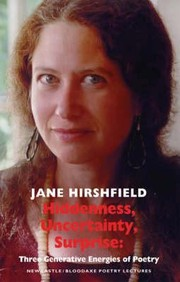 Cover of: Hiddenness, Uncertainty, Surprise | Jane Hirshfield