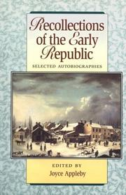 Cover of: Recollections Of The Early Republic by Joyce Appleby