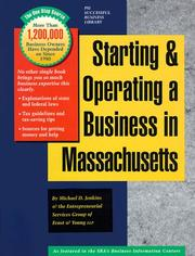 Cover of: Starting and Operating a Business in Massachusetts | Michael D. Jenkins