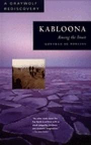 Cover of: Kablouna by Gontran de Poncins