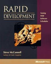 Cover of: Rapid development by Steve McConnell
