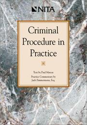 Cover of: Criminal procedure in practice by Marcus, Paul