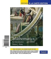 Cover of: A History of Mathematics
