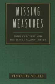 Cover of: Missing measures | Timothy Steele