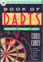 Cover of: The American Darts Organization book of darts by Chris Carey