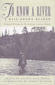 Cover of: To know a river by Roderick Langmere Haig-Brown