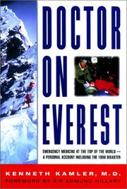 Cover of: Doctor on Everest by Kenneth Kamler