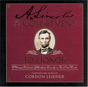 Cover of: A commitment to honor by Abraham Lincoln