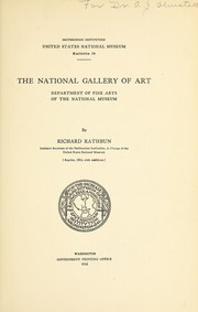 Cover of: The National Gallery of Art | Richard Rathbun
