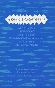 Cover of: Greek Tragedies 3 Aeschylus | David Grene