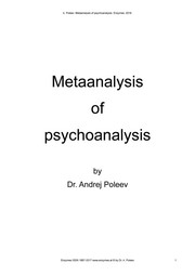 Cover of: Metaanalysis of psychoanalysis | Dr. Andrej Poleev