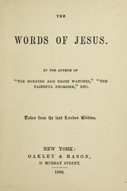 Cover of: The words of Jesus | John R. Macduff