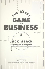 Cover of: The great game of business by J. Stack