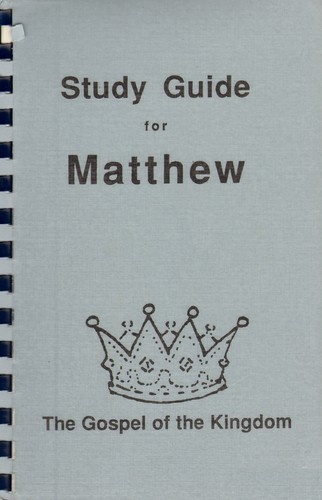 Study Guide for Matthew | Open Library