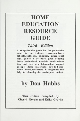Home education resource guide by Don Hubbs