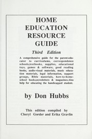 Cover of: Home education resource guide by Don Hubbs