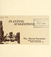 Cover of: Planting suggestions | Morris Nursery Co