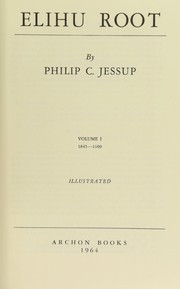 Cover of: Elihu Root by Philip C. Jessup