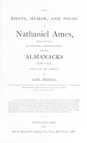Cover of: The essays, humor, and poems of Nathaniel Ames | Samuel Briggs
