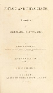 Cover of: Physic and physicians | Forbes Winslow