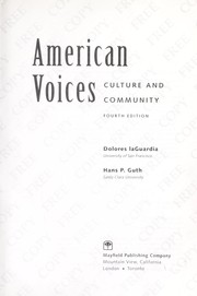 Cover of: American Voices by Dolores laGuardia; Hans P. Guth