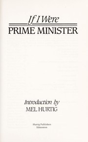 Cover of: If I Were Prime Minister | Mel Hurtig
