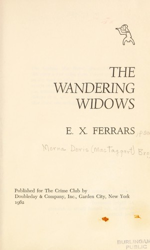 The Wandering Widows by Elizabeth Ferrars