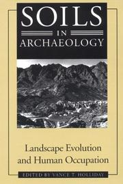 Cover of: SOILS IN ARCHAEOLOGY | HOLLIDAY VANCE .