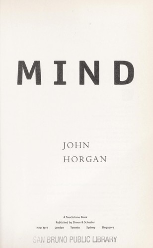 The undiscovered mind by Horgan, John