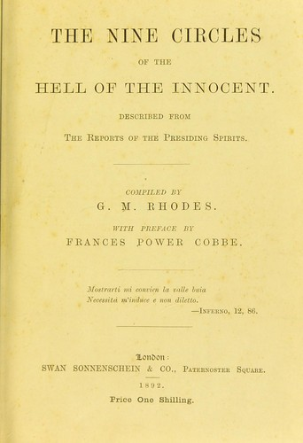 The nine circles of the hell of the innocent by G. M. Rhodes