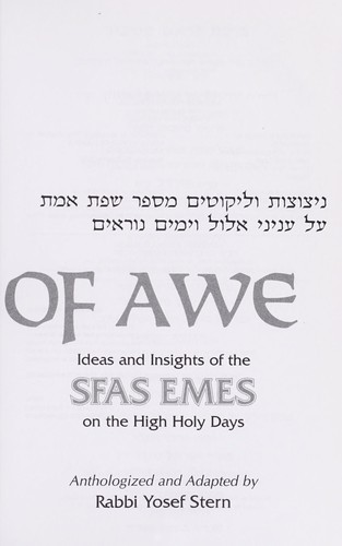 Days of Awe by Yosef Stern