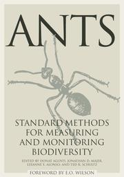 Cover of: Ants | Jonathan D. Majer, Leeanne E. Alonso, And Ted R. Schultz Donat Agosti