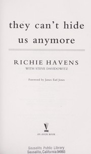 Cover of: They can't hide us anymore | Richie Havens