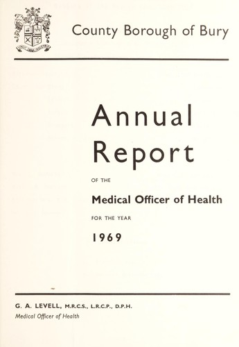 [Report 1969] by Bury (Greater Manchester, England). County Borough Council