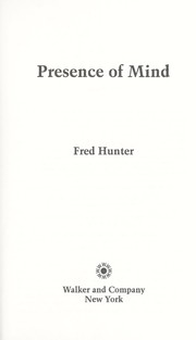 Cover of: Presence of mind | Fred Hunter