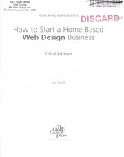 Cover of: How to start a home-based web design business | Jim Smith