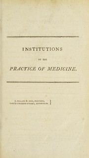 Cover of: The institutions of the practice of medicine by Giambattista Borsieri de Kanilfeld