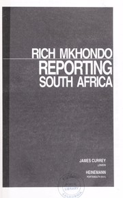 Cover of: Reporting South Africa | Rich Mkhondo