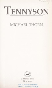 Cover of: Tennyson by Michael Thorn