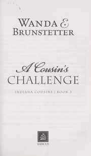 Cover of: A cousin's challenge by Wanda E. Brunstetter