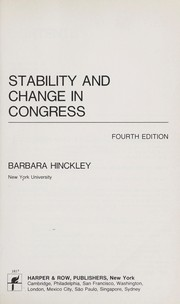Cover of: Stability and change in Congress by Barbara Hinckley