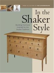 Cover of: In the Shaker Style | Editors of Fine Woodworking Magazine