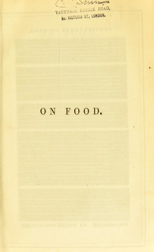 On food by Edwin Lankester